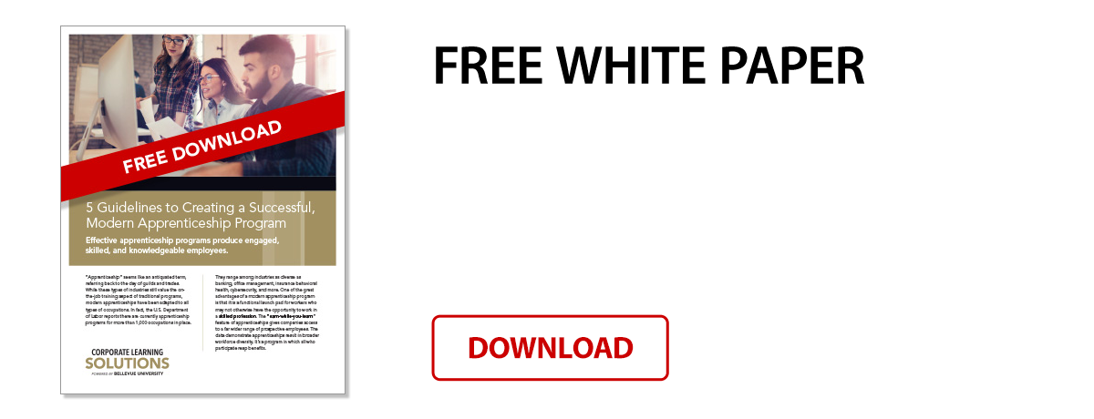 Free White Paper: 5 Guidelines to Creating a Successful, Modern Apprenticeship Program